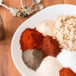 Versatile BBQ Rub Ingredients on white plate