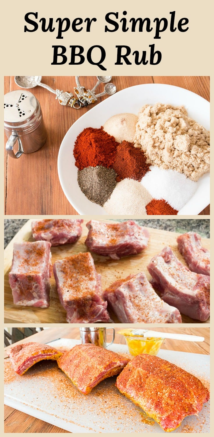 This super simple versatile BBQ rub recipe works great on anything you put on your smoker or grill. Goes great on pork shoulder, brisket, ribs, and chicken.