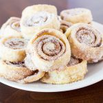 Pie Crust pinwheels on a white plate