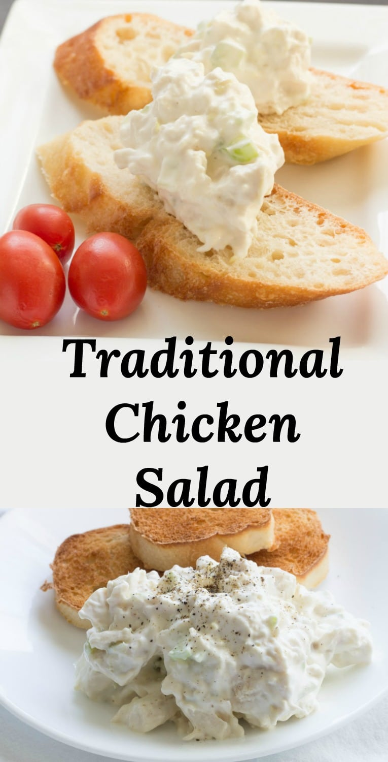 A Simple Chicken Salad Recipe that gets back to the basics!  Just a handful of ingredients is all you need for a quick and easy lunch!