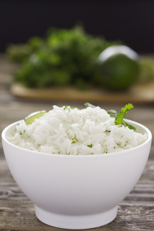 Vertical Cilantro Lime Rice