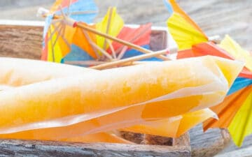 Bahama Mama Freezer sticks with small umbrellas in a box