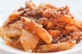 Close-up view Beef Goulash