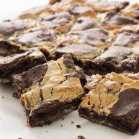 Sliced Chocolate Cake Mix Cookie Bars