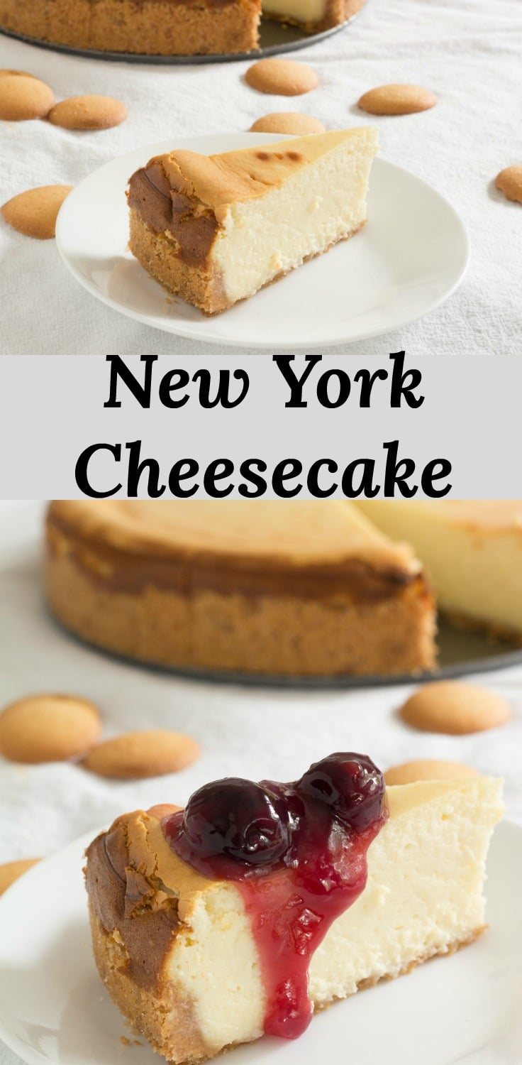 Recipe for a Creamy and crack-free New York Style Cheesecake with tips and tricks for success.