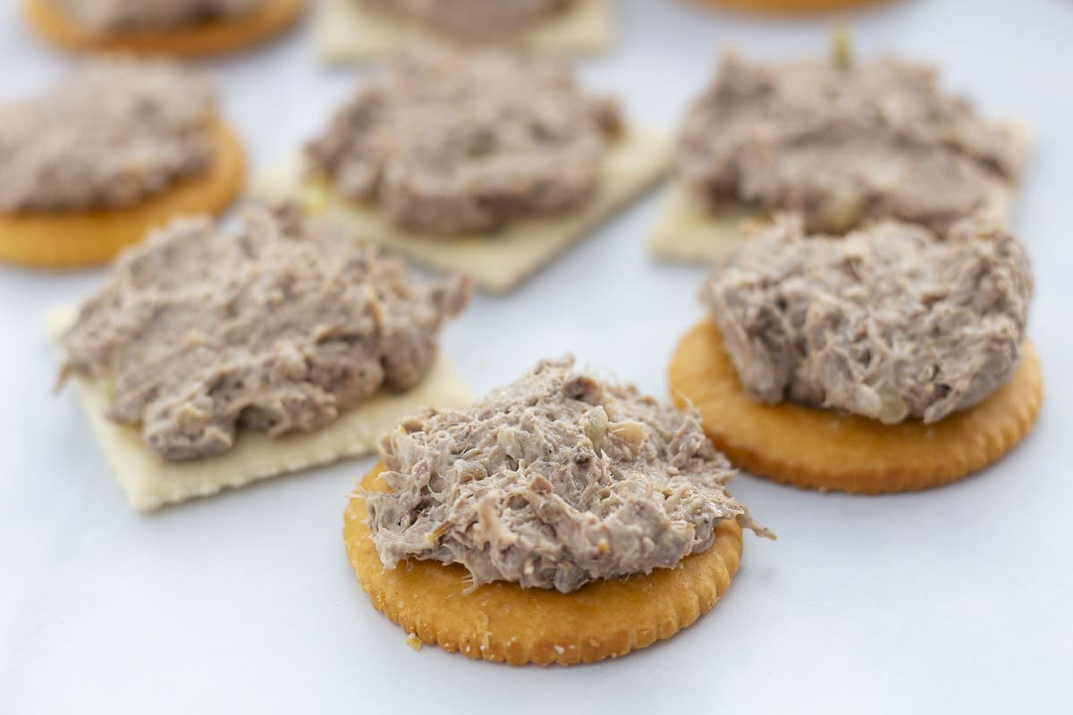 Beef Spread on assorted crackers
