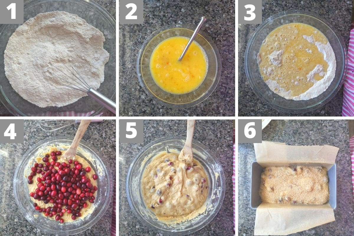 Making Cranberry Bread in Photos